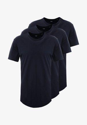 ONSMATT LONGY TEE 3 PACK - Basic T-shirt - dark navy