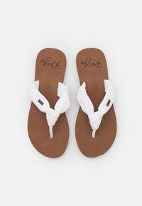 Roxy - PAIA - T-bar sandals - white/chocolate - 5
