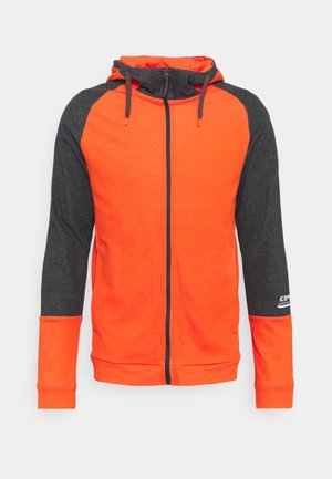 MORLEY - Zip-up hoodie - dark orange
