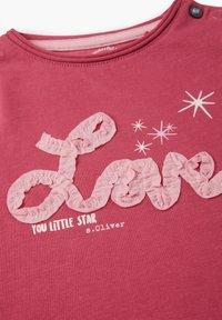 s.Oliver - MIT WORDING-APPLIKATION - Long sleeved top - pink - 2