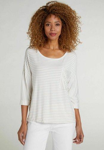Long sleeved top - white camel