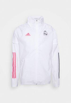 REAL MADRID SPORTS FOOTBALL JACKET - Klubbkläder - white