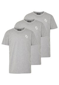 SIGNATURE TEE ONE COLOUR 3 PACK - T-Shirt basic - grey