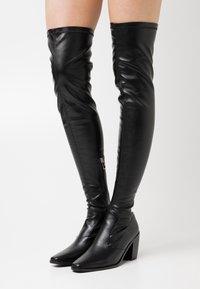 RAID - ELMO - Kozačky nad kolena - black - 0