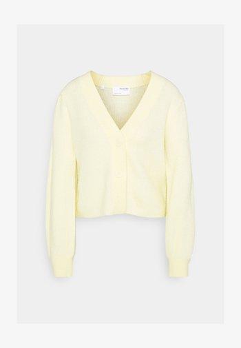 SLFLIPA CARDIGAN - Kardigan - pastel yellow