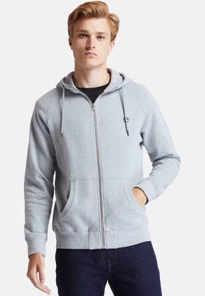 EXETER RIVER FULL ZIP - Huvtröja med dragkedja - medium grey heather