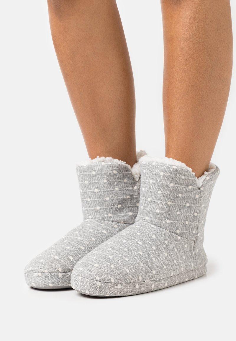 Anna Field - Slippers - light grey/white