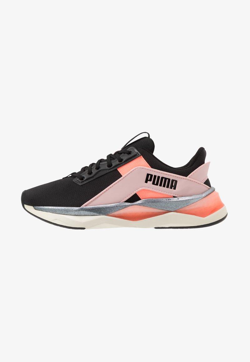 Puma - LQDCELL SHATTER XT GEO - Sports shoes - black/peachskin/peach