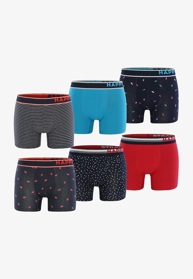 6 PACK - Pants - blau/rot