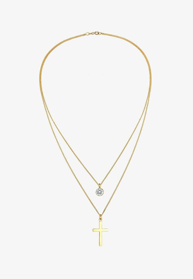 GLASS CRYSTAL - Collana - gold