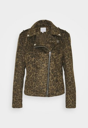 VIFADDY BIKER JACKET - Imitert skinnjakke - forest night