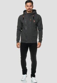 INDICODE JEANS - ELM - Zip-up hoodie - charcoal - 1