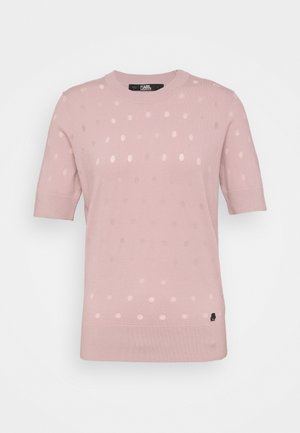 BURNOUT DOT - T-shirts - rose smoke