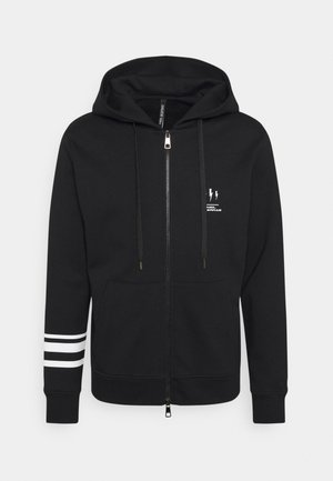 TRIPTYCH THUNDER ZIP UP - Zip-up hoodie - black/white