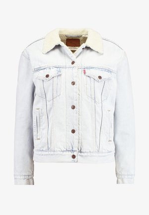 EX-BF SHERPA TRUCKER - Giacca di jeans - warm as toast