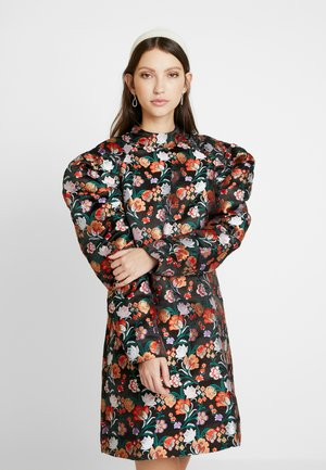 PUFF SLEEVE EMBROIDERED MINI DRESS - Hverdagskjoler - multi/black