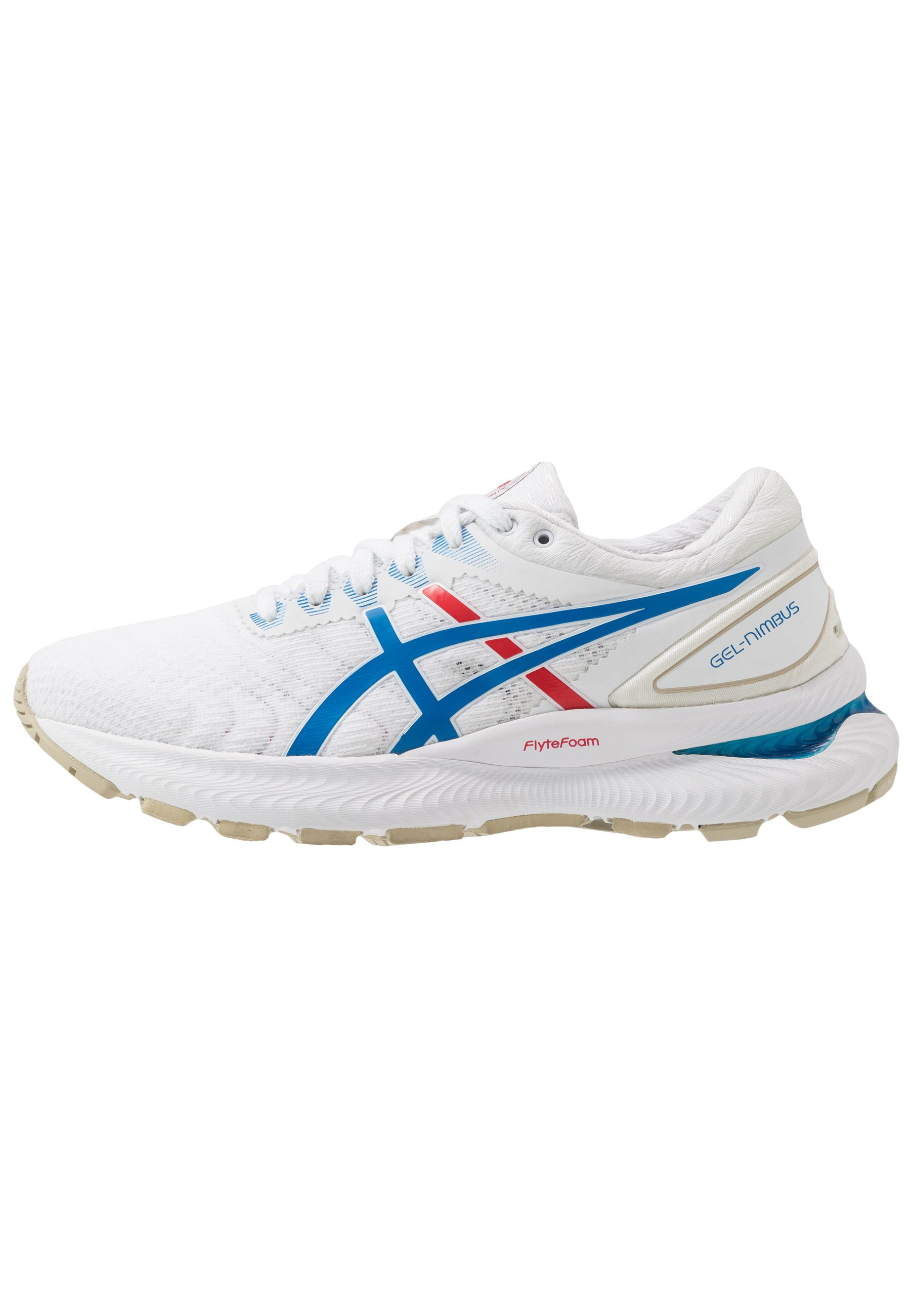 GEL-NIMBUS 22 RETRO TOKYO - Zapatillas de running neutras - white/electric  blue