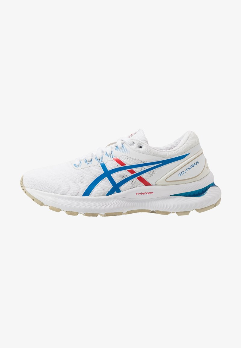 ASICS - GEL-NIMBUS 22 RETRO TOKYO - Neutral running shoes - white/electric blue