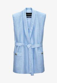 Uterqüe - MIT SCHULTERPOLSTERN  - Waistcoat - light blue - 5