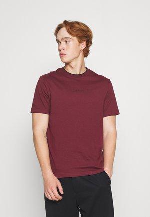 CENTER LOGO - T-shirt basic - tawny port