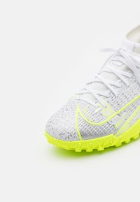 Nike Performance - MERCURIAL 8 ACADEMY TF UNISEX - Astro turf trainers - white/black/metallic silver/volt - 5