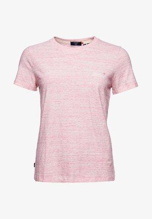 Print T-shirt - pink space dye