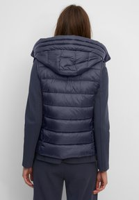 Marc O'Polo - RECYCLED VEST FIX HOOD STAND UP COLL - Waistcoat - midnight blue - 2