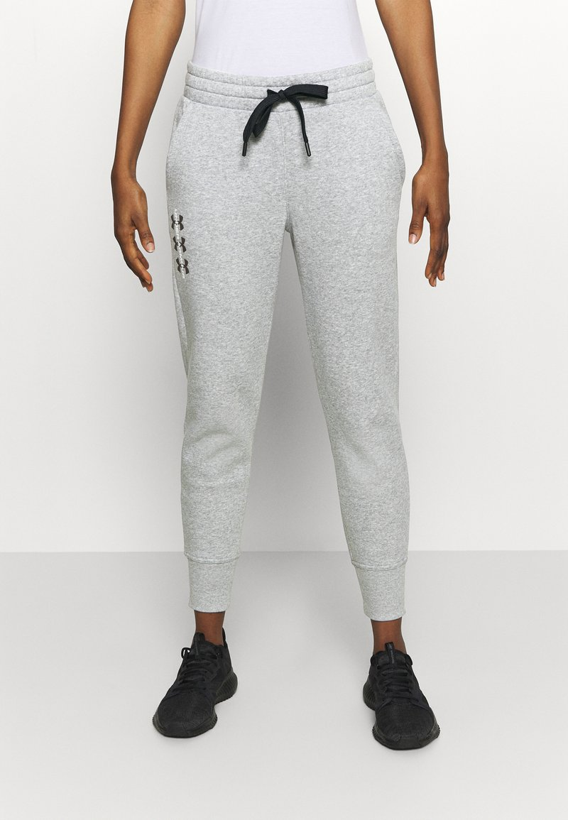 Under Armour - RIVAL PANTS - Tracksuit bottoms - steel medium heather