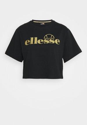 PRESEPE - Print T-shirt - black