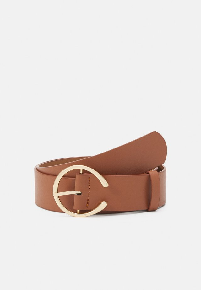 PCDEBORAH BELT - Pásek - cognac/gold-coloured