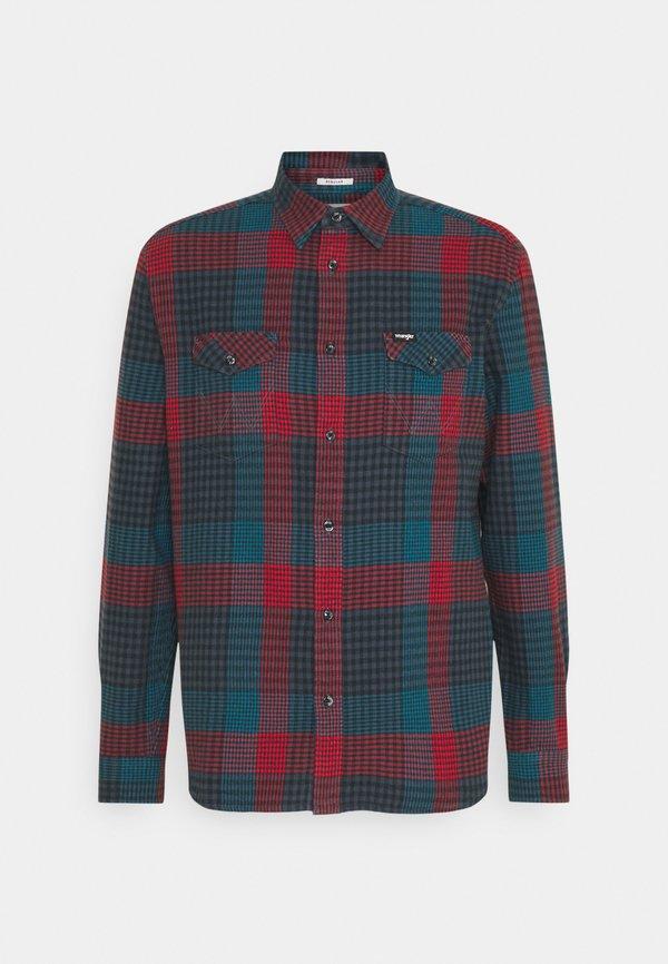Wrangler FLAP - Koszula - moroccan blue/niebieski Odzież Męska OHPP