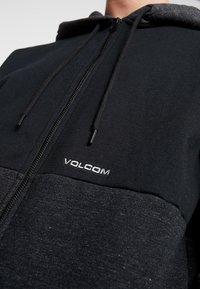 Volcom - ZIP - Huvtröja med dragkedja - black - 5