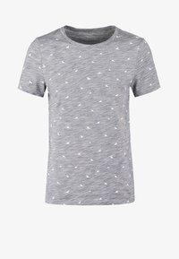T-shirt print - dark blue melange