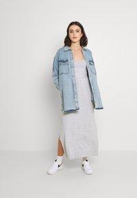 Even&Odd - Maxi dress - mottled light grey - 1