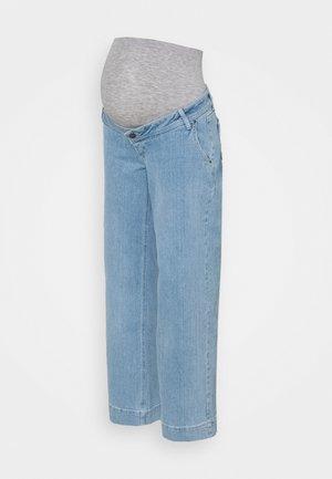 MLTRONA WIDE LEG BUMPBAND - Straight leg jeans - light blue denim