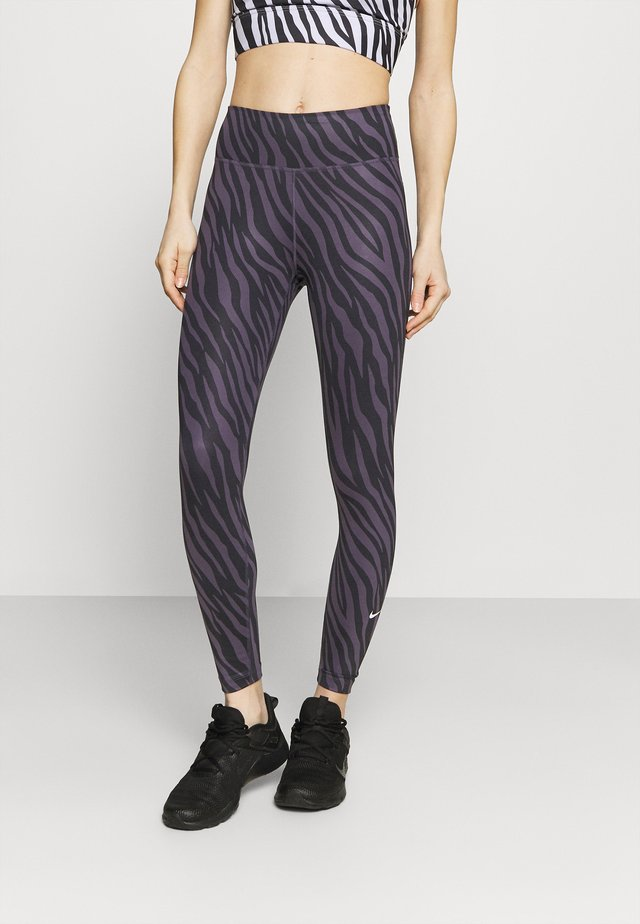 ONE 7/8 - Legging - dark raisin/white