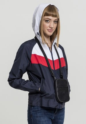 THREE TONE - Veste coupe-vent - navy/white/fire red