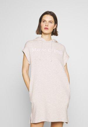 DRESS SLEEVELESS HOODED - Day dress - oat melange