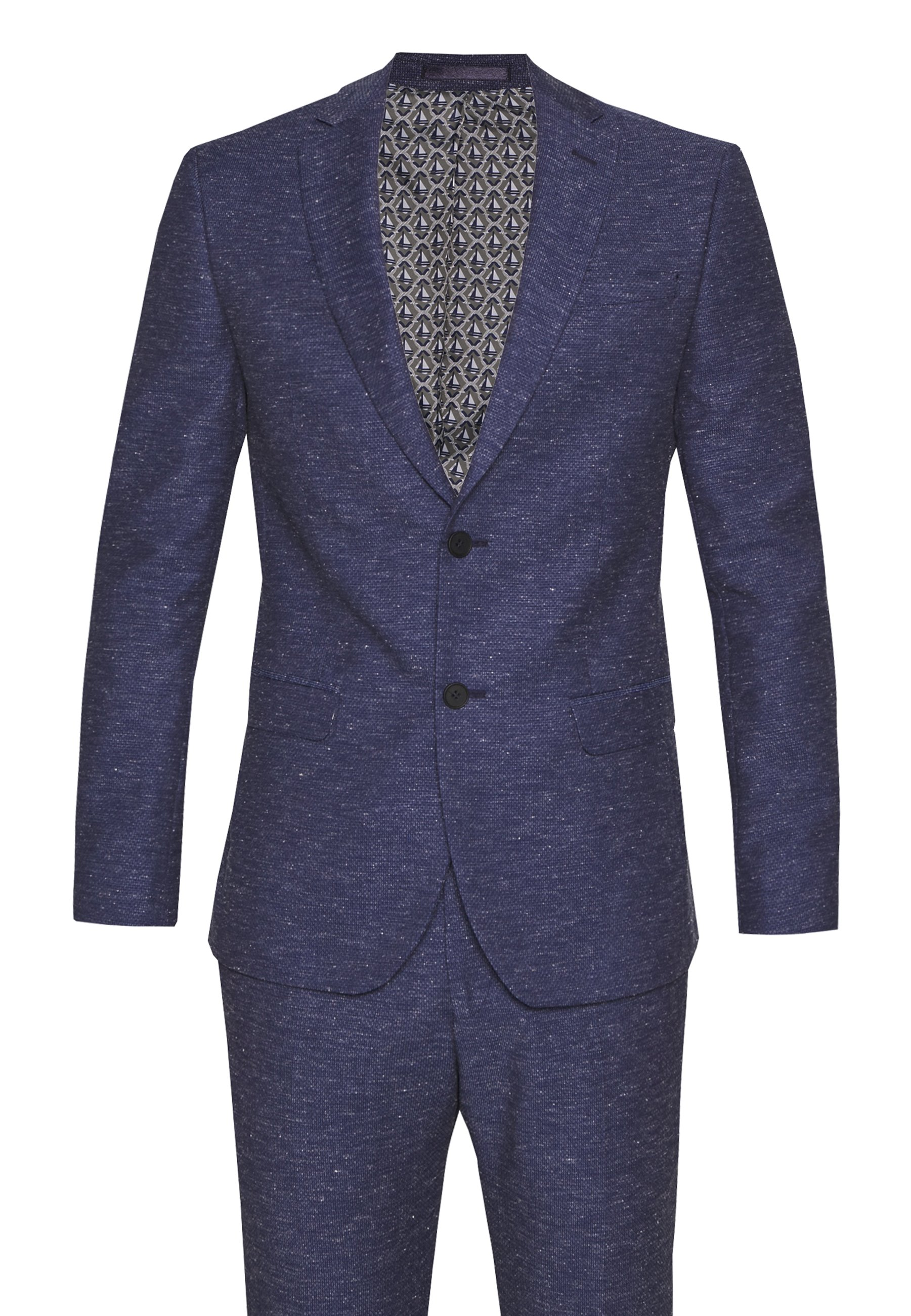 Limehaus SPECKLE TEXTURE SUIT - Costume - navy