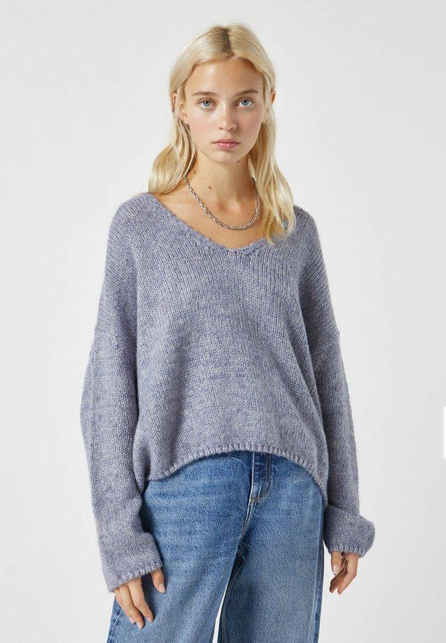 Pullover - mottled grey