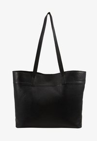 LEATHER - SHOPPING BAG / POUCH SET - Velká kabelka - black