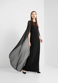 Lauren Ralph Lauren - CLASSIC LONG GOWN COMBO - Suknia balowa - black - 1