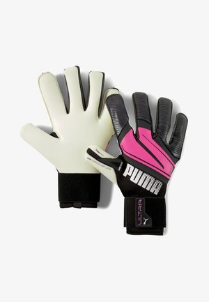 Goalkeeping gloves - luminous pink-black