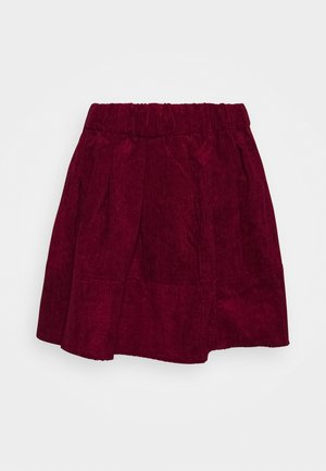 KIA  - A-line skirt - dark red