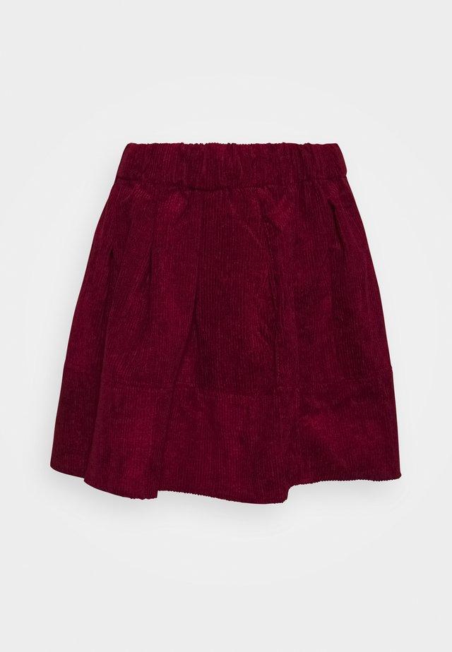 KIA  - A-line skirt - dark red