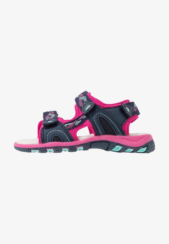 LUCA  - Sandales - marine/pink/türkis