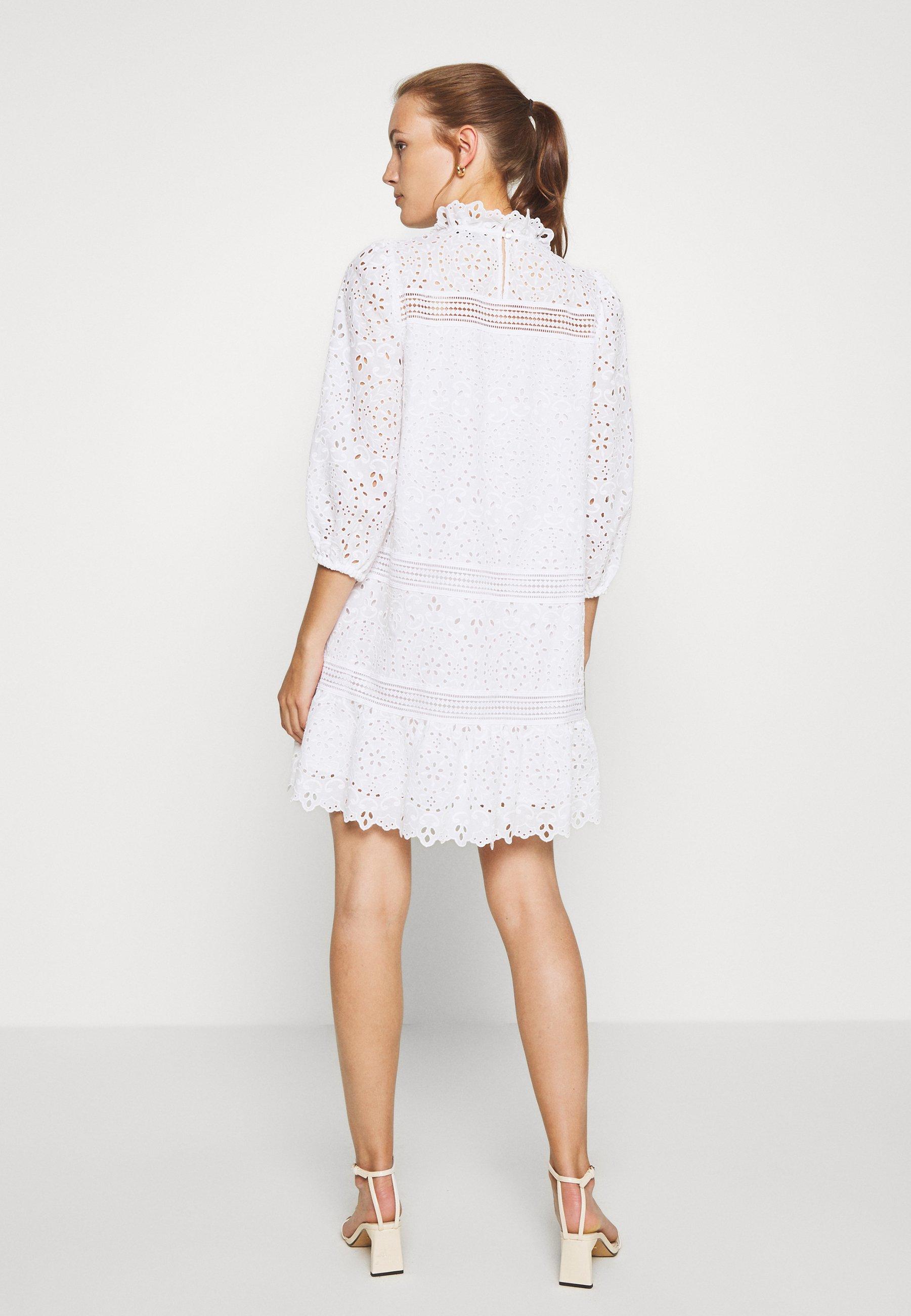 Los más valorados IVY & OAK DRESS PUFFY SLEEVES MINI - Vestido informal - snow white   Ropa de mujer 2020 uR4IX