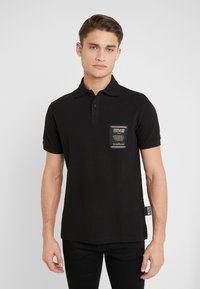 Versace Jeans Couture - LABEL POLO - Koszulka polo - black - 0