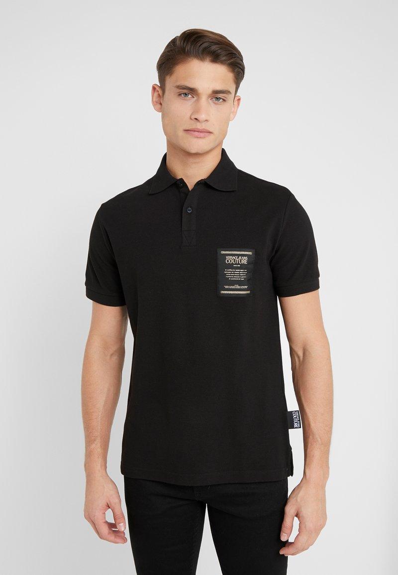 Versace Jeans Couture - LABEL POLO - Koszulka polo - black
