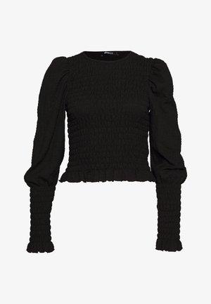 NATHALIE SMOCK - Bluzka z długim rękawem - black